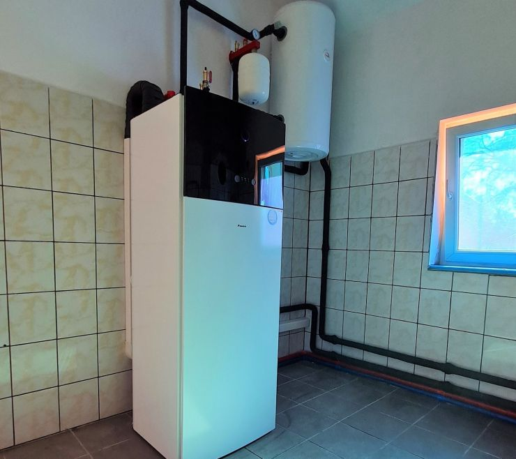 pompa ciepła w kotłowni